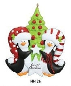 Penguin Couple Our First Christmas Ornament HH26