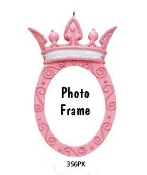 PRINCESS PHOTO FRAME, PINK OR PURPLE