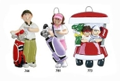 GOLF COUPLE PERSONALIZED ORNAMENT