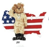 ARMY SOLDIER BEAR ORNAMENT