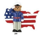 MARINE SOLDIER PATRIOT PERSONALIZED ORNAMENT