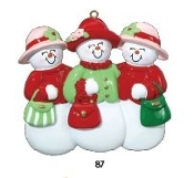 3 Ladies Snow Friends Christmas Ornament RM87