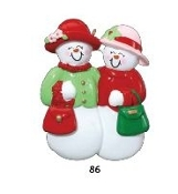 2 Ladies Snow Friends Christmas Ornament RM86