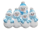 BLUE SINGLE FAMILY SNOWMAN -5