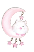 SLEEPING OWL BABY'S 1ST CHRISTMAS ORNAMENT, PINK