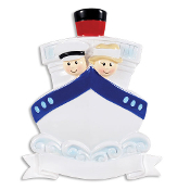 CRUISE SHIP COUPLE TRAVEL PERSONALIZED ORNAMENT