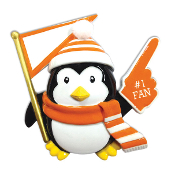 ORANGE/BLACK PENGUIN