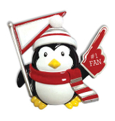 RED/WHITE PENGUIN   OR1150-SSW