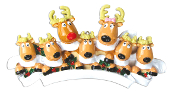 REINDEER FAMILY OF 7 W/SCARVES