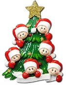 Family of 6 on a Christmas Tree