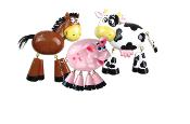 COW FARM ANIMAL CHRISTMAS ORNAMENT