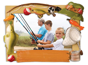 FISHING ORN PIC FRAME