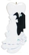 Bride and Groom Formal Wedding Christmas Ornament RM149