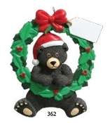 BLACK BEAR WREATH -2