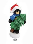 RM 1306 BLACK BEAR CHRISTMAS TREE