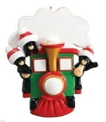 All Aboard Bear Train Family of 3 Christmas Ornament RM1211-3