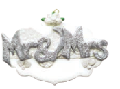 Mr. & Mrs. Silver Glitter Wedding Christmas Ornament RM960