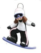 SNOWBOARD GIRL BROWN