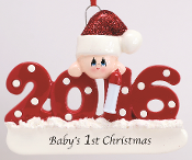 2016 Baby's First Christmas, Red