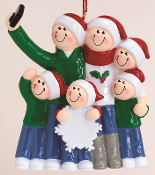 RM 1603-6 Selfie Family of 6 Personalized Ornament