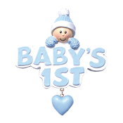 BABY'S 1ST WORDS HEART BLUE  OR1175-B