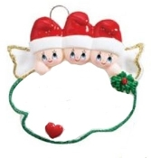 Angel Family of 3 Christmas Ornament RM1405-3