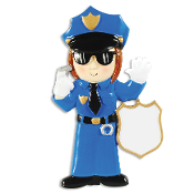 POLICE WOMAN ORNAMENT OR1287W