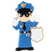 POLICE MAN ORNAMENT OR1287M