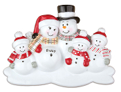 EXPECTING SNOWMAN FAMILY of 5