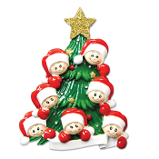 Family of 7 on a Christmas Tree