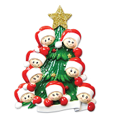 Family of 8 on a Christmas Tree