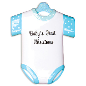 Baby's 1st Christmas Blue Onesie OR1496B