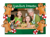 GINGERBREAD GRANDMA'S SWEETIES Picture Frame Ornament