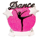 Dance Silhouette Pink Glitter  OR1581