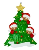 Ethnic Christmas Tree Family of 3 AA827-3