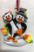Pete Penguin Wedding Couple Christmas Ornament RM1231