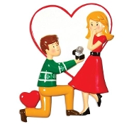 Engaged Couple Christmas Ornament OR1508