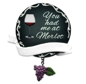 """You Had Me At Merlot"" Wine Christmas Ornament OR1533"