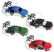Black Race Car Christmas Ornament OR814ABK