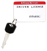 Driver License with Key Christmas Ornament OR587