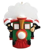 All Aboard Bear Train Family of 2 Christmas Ornament RM1211-2