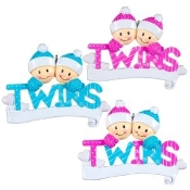 Baby Pink Twins Christmas Ornament OR1166AP