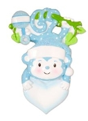 Baby Blue Monkey Christmas Ornament OR1576B