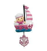 Baby Pink Sailboat Christmas Ornament OR1848P