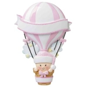 Baby Pink Hot Air Balloon Christmas Ornament OR1642P