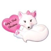 Baby Pink Fox Christmas Ornament OR1501P