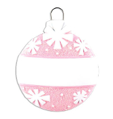 Baby Pink Christmas Ball Ornament OR1434P