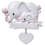 Baby Pink Elephant Christmas Ornament OR1644P