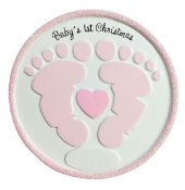 Baby Pink Footprints Christmas Ornament OR1736P