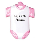 Baby Onesie Pink  Christmas Ornament OR1496P